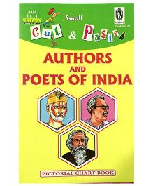 Indian Book Depot map house Cut And Paste Chart Book Authors And Poets of India - English