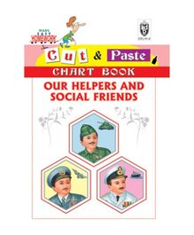 Indian Book Depot map house Cut And Paste Chart Book Our Helpers And Social Friends - English