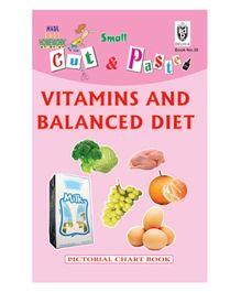 Indian Book Depot map house Cut And Paste Book Vitamins And Balanced Diet - English