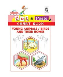 Indian Book Depot map house Cut And Paste Chart Book Animals Birds And Their Homes - English