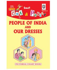 Indian Book Depot map house Cut And Paste Chart Book People of India And Our Dresses - English