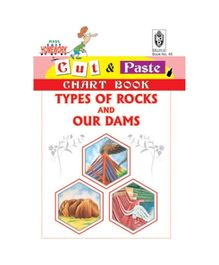 Indian Book Depot map house Cut And Paste Chart Book Types of Rocks And Our Dams - English