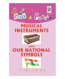 Indian Book Depot map house Cut And Paste Book Musical Instruments And Our National Symbols - English