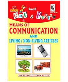 Indian Book Depot map house Cut And Paste Chart Book Means of Communication And Living Non Living Articles - English