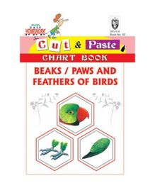 Indian Book Depot map house Cut And Paste Chart Book Beaks Paws And feathers of Birds - English