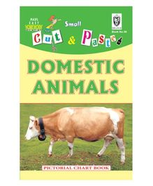 Indian Book Depot map house Cut And Paste Book Domestic Animals - English