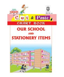 Indian Book Depot map house Cut And Paste Chart Book Our School And Stationary Items - English