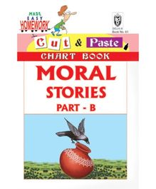 Indian Book Depot map house Cut And Paste Chart Book Moral Stories Part B - English