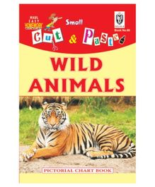 Indian Book Depot map house Cut And Paste Book Wild Animals - English