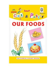 Indian Book Depot map house Cut And Paste Chart Book Our Foods - English