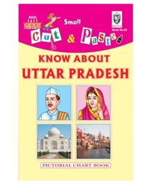 Indian Book Depot map house Cut And Paste Book Know About Uttar Pradesh - English