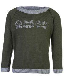 FS Mini Klub Full Sleeves Sweater - Olive Green