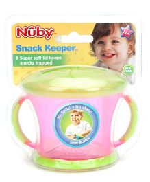 Nuby Snack Keeper Pink  And Green- 240 ml