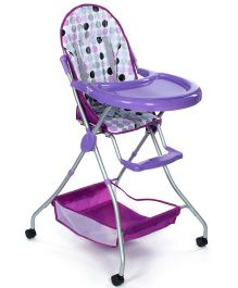Fab N Funky High Chair With Storage Basket - Purple