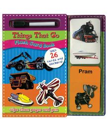 Things That Go Flash Card Book - English
