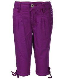 Gini & Jony Quarter Length Capri - Purple
