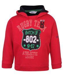 Beebay Hooded Sweatshirt Red - Rugby Team