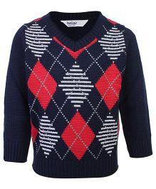 Beebay Full Sleeves Sweater Navy - Diamond Intarcia