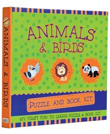 Art Factory Animals And Birds Puzzle And Book Kit - English