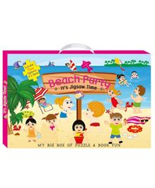 Art Factory Beach Party My Big Box of Puzzle And Book Fun