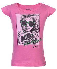 Gini & Jony Cap Sleeves T-Shirt - Pink