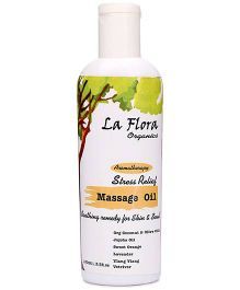 La Flora Organics Aromatherapy Stress Relief Massage Oil - 100 ml