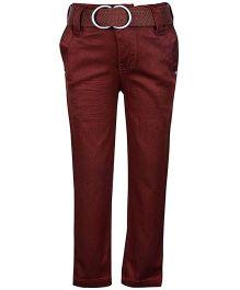 Noddy Full Length Pant -  Maroon