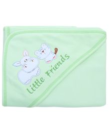 Child World Hooded Wrapper Dog Patch - Green