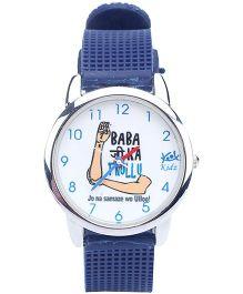 Kool Kidz Analog Wrist Watch Blue - Babaji Ka Thullu Print