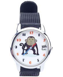 Kool Kidz Analog Wrist Watch Monkey Print - Black