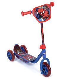 Marvel Spider Man Three Wheeler Scooter - Blue And Red