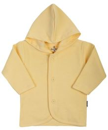 Child World Full Sleeves Hooded Vest - Yellow