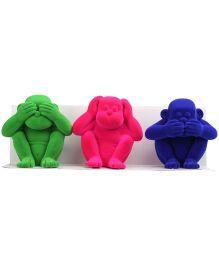 Rubbabu Apes Of Wisdom Figure - Multicolour