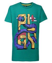 Nauti Nati Half Sleeves T-Shirt - Play Graphic Print
