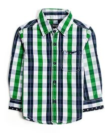 Nauti Nati Full Sleeves Shirt Checks - Navy And Green