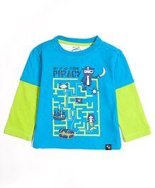 Nauti Nati Doctor Sleeves T-Shirt - Pirate Maze