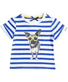 Nauti Nati Half Sleeves Top - Nerdy Chihuahua Graphic Print