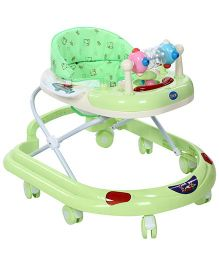 Musical Walker With Play Tray- Green