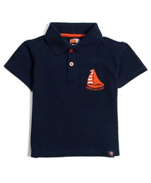 Nauti Nati Half Sleeves Polo T-Shirt - Navy
