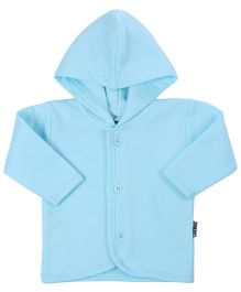 Child World Full Sleeves Hooded Vest - Aqua