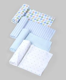 Blue & White Assorted Baby Wraps