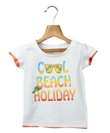 Beebay Cool Beach Holiday T-Shirt - White