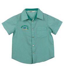 Beebay Sunrise Printed Shirt - Green Stripe