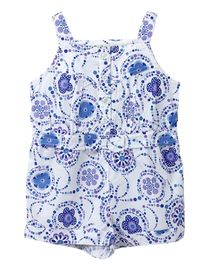 Beebay Floral Printed Jumpsuit - Blue And White