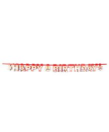 Karmallys Birthday Banner Red - 16 Pieces