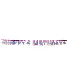 Karmallys Birthday Banner Purple - 16 Pieces