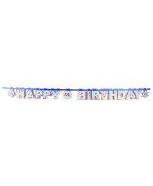 Karmallys Birthday Banner Sky Blue - 16 Pieces