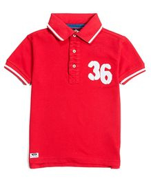 Nauti Nati 36 Pique Polo Tee - Red