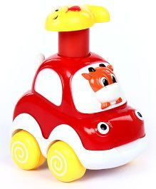 Fab N Funky Toy Car Monkey Face - Red And White