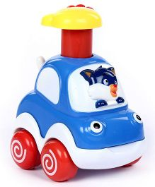 Fab N Funky Toy Car Cat Face - Blue